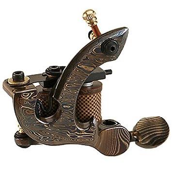 Amazon.com : Hand Made OLD School Damascus Steel Tattoo Machine ...