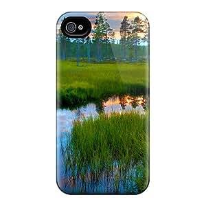 New Tpu Hard Case Premium Iphone 4/4s Skin Case Cover(river At Dusk)