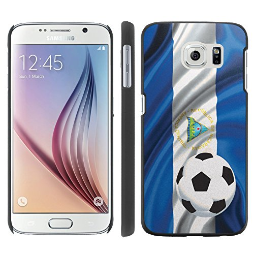 Price comparison product image Mobiflare,  Slim Clip-on Phone Case,  for [Samsung Galaxy S6 G920] - Nicaragua Flag with Soccer Ball