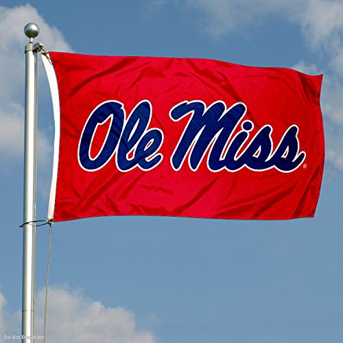 Ole Miss Large Red 3x5 College Flag