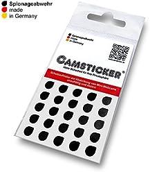 SPIONAGEABWEHR - 25 Stk. CAMSTICKER® Ø6mm - SCHWARZ Matt - Kamera Aufkleber für integrierte Miniwebcams - Für Smartwatch, Handy, Tablet, Notebook, Laptop, Monitor & Fernseher