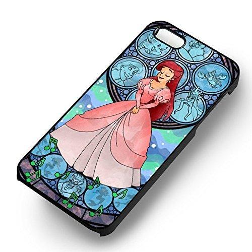 Chic Mermaid Princes pour Coque Iphone 7 Case (Noir Boîtier en plastique dur) W0F2YD