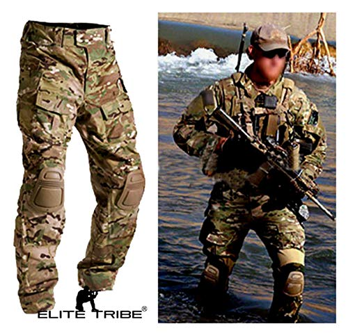 Men Military Army Tactical Series Airsoft Paintball Hunting Uniform Combat BDU Pants Multicam Size S,M,L,XL,XXL (M)