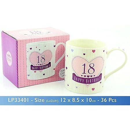 Cumpleaños, diseño de 18 cumpleaños Taza de porcelana con ...