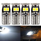 KaTur Extremely Bright 450 Lumens T10 CanBus Error Free LED Light Bulbs 3030 Chipset 194 168 175 2825 Car Interior Dome Map Side Marker Courtesy License Plate Lights 6000K Xenon White 12V (Pack of 4)