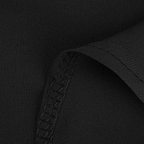 T Chemise Longue Dcontracte de Noir OL S Taille Chemises Revers Femme ~ Soie Couleur Chemisier Mesdames lgant Manche 5XL Haut Wolfleague Shirt Femme Grande Unie Mousseline wC5qA66