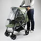 Universal Waterproof Rain Cover Wind Dust Shield For Baby Strollers Pushchairs (Color: Clear)