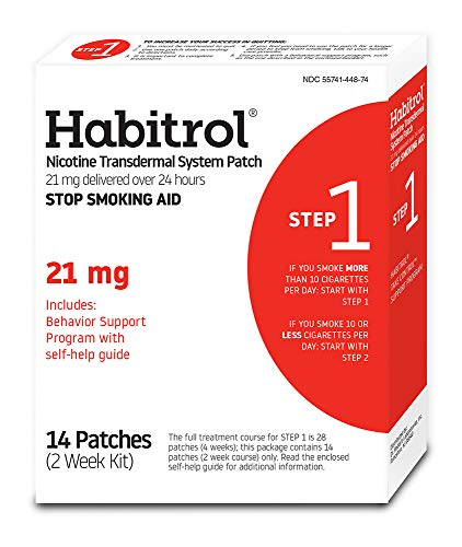 Habitrol Nicotine Transdermal System Stop Smoking Aid, Step 1 (21 mg), 14 Patches - Replacement Nicotine