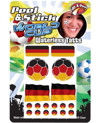 Peel & Stick World Cup Face Stickers - Face Adhesive Decal