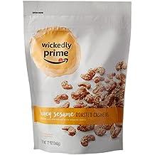 Wickedly Prime Roasted Cashews, Honey Sesame, 12 Ounce