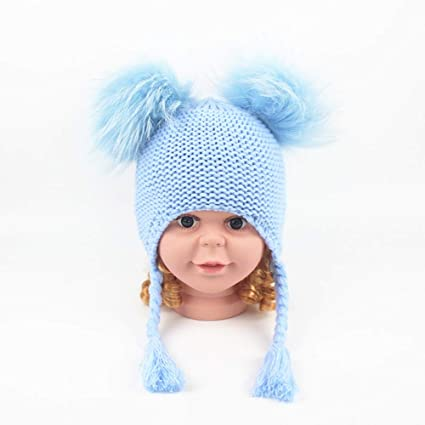 64199644 Dig dog bone Kids Toddlers Warm Beanie Hat with Ear Flap Girls Boys Winter  Knitted Fleece Hats Cute Thick Windproof Cap Head Wear Protection Gift for  ...