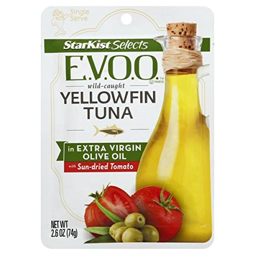Gourmet Tomato - Starkist Selects Gourmet E.V.O.O. Wild-Caught YellowFin Tuna Extra Virgin Olive Oil with Sun-dried Tomato ~ pack of 6