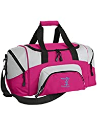 Gymnastics Personalized - Colorblock Sport Large Duffle Bag (Tropical Pink/Grey)