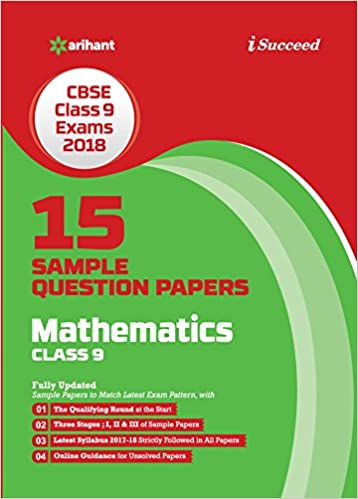 15 sample question papers mathematics for class 9 cbse amazon in