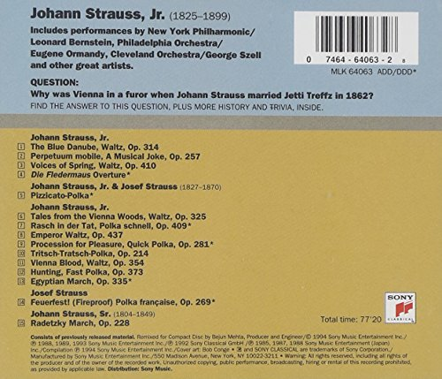Johann Strauss:  Greatest Hits by Sony Classical (Image #1)