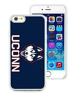 new uconn White iPhone 6 4.7 inch Screen TPU Phone Case Genuine and Custom Design