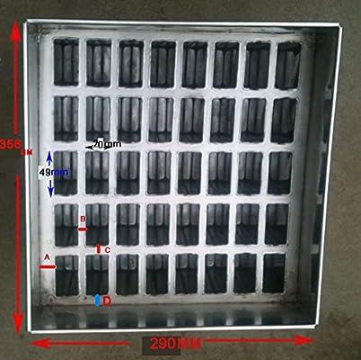 Amazon.com: 40 moldes de acero inoxidable para paletas de ...