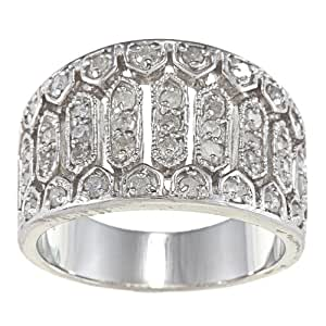 Sterling Silver 3/4ct Vintage Style Diamond Anniversary Ring (G-H, I2)