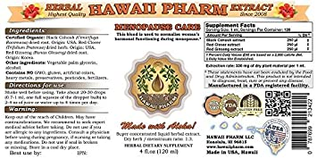Menopause Care Liquid Extract Herbal Dietary Supplement 4×4 oz