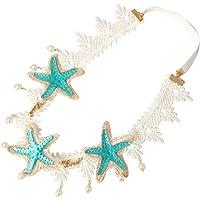 Lurrose Starfish Pearl hoofdband kant haarband elastische hoofdband voor meisjes vrouwen