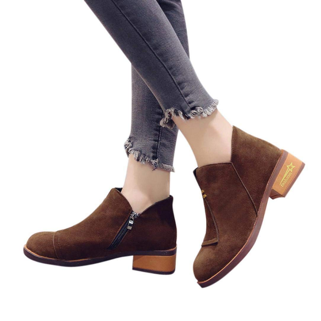 Gyoume Teen School Boots Shoes Women Ankle Boots Winter Peep Toe Boots Shoes Dress Shoes