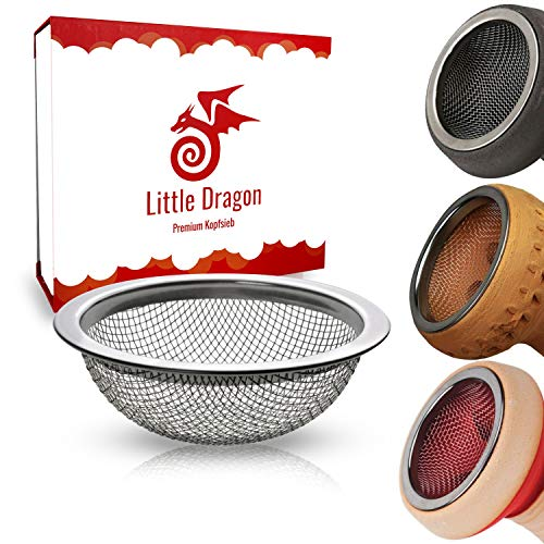 Little Dragon® Shisha Sieb für Tonkopf & Steinkopf perfekt geeignet – Shisha Kopf Sieb 16mm aus 100% rostfreien…