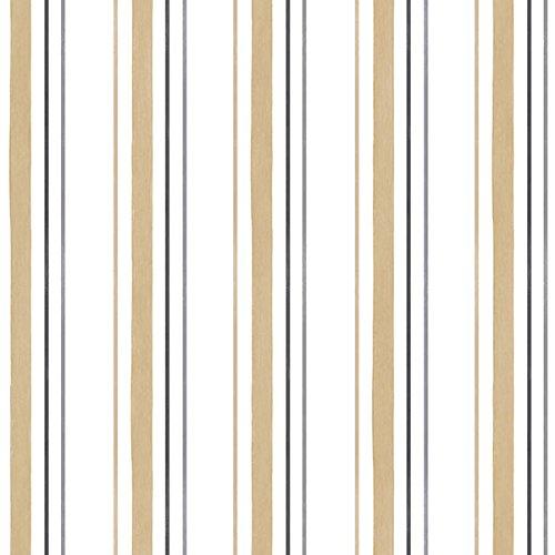 2 Black Striped Wallpaper Rolls - Manhattan comfort NWSH34505 Leeds Series Vinyl Striped Design Large Wallpaper Roll, 20.5