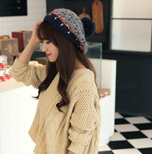 Dealzip Inc Nordic Style Fashion Women Lady Winter Knitting Beanie Crochet Casual Ball Beret Hat - Fahion Fair