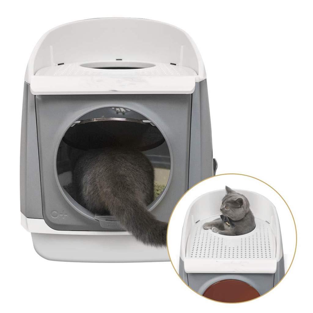Caja De Arena para Gatos con Cabina Libre, Cerrado Arenero para Gatos Doble Puerta,Splash De Prevención, 54 X 42 X 49 Cm: Amazon.es: Productos para mascotas