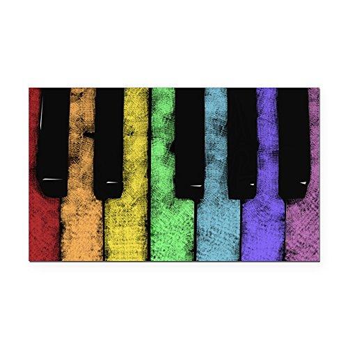 CafePress - PIANO - Rectangle Car Magnet, Magnetic Bumper Sticker (Rectangle Republican Magnet)