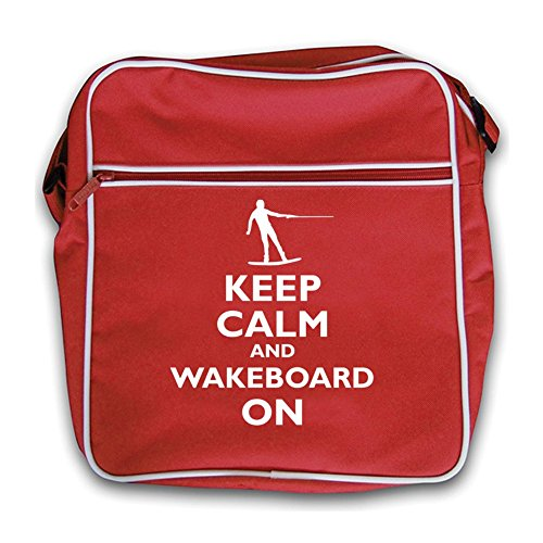 Calm Retro Red Black Keep and On Wakeboard Flight Bag RwC7Bq