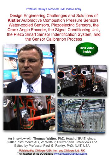 hallenges and Solutions of Kistler Automotive Combustion Pressure Sensors, Water-cooled Sensors, Piezoelectric Sensors, the Crank Angle Encoder, the Signal Conditioning Unit, the Piezo Smart Sensor Indentification System, and the Sensor Calibrarion Process ()