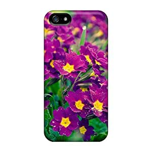 Hot KZvpjgg5499ueUVU Sweet Purple Flowers Tpu Case Cover Compatible With Iphone 5/5s