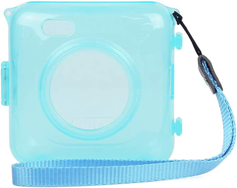 Color : Transparent Durable Protective Crystal Shell Case with Strap for PAPERANG Printer Transparent