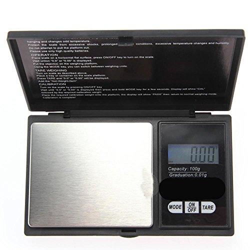 0.1 g Pocket Digital Scales for Gold or Coins Black DeliaWinterfel 1000 g