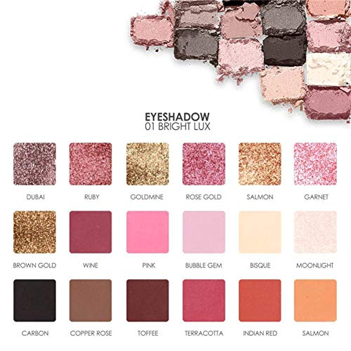 18 Colors Eyeshadow Palette Long Lasting Natural Matte Eye Shadow Eye Makeup ()