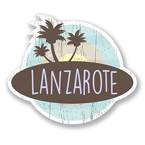 - 2 x Lanzarote Island Spain Vinyl Stickers