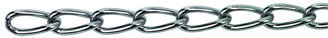 1/Piece HSI Curb Link Chain Nickel-Plated Welded 2.5/mm Roll 10/m 140161.0