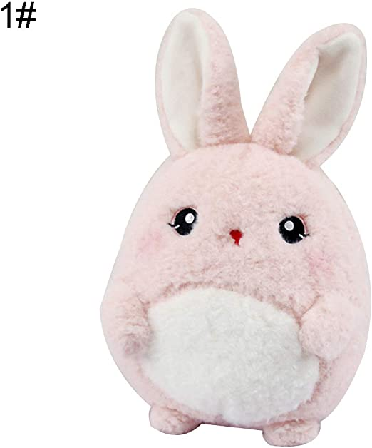 "Pink Bunny 16/"" Square Plush Stuffed Animal Pillows"