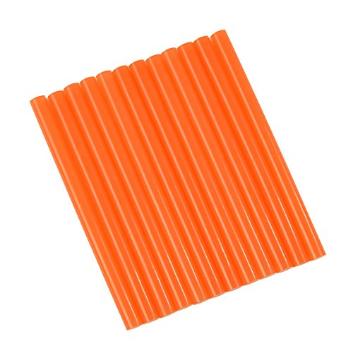 GlueSticksDirect Translucent Orange Colored Glue Sticks Mini X 4 12 Sticks