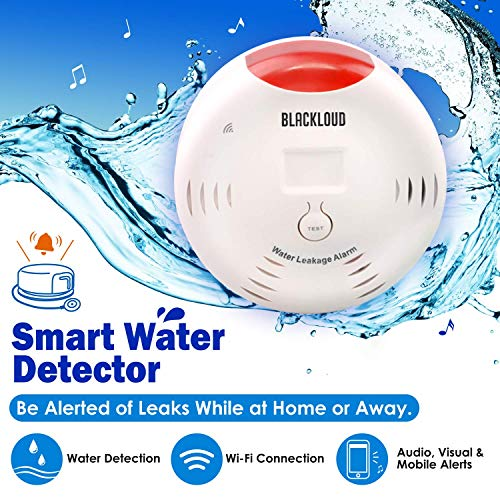 Blackloud Smart Wi-Fi Water Leakage Detector Flood and Leak Detector - Sound & Visual Alarm with App Notification Alerts, No Expensive Hub Required, Simple Plug & Play (1 Pack)