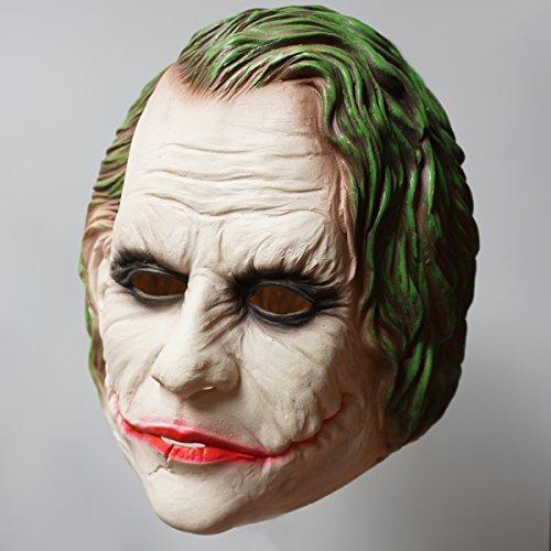 The Dark Knight Movie Batman Joker Latex Mask Costume Halloween Cosplay Prop (Batman Halloween Makeup Mask)