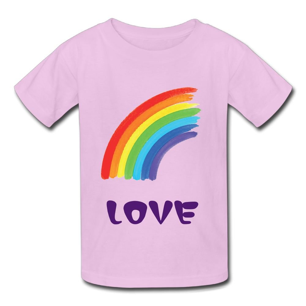 ACFUNEJRQ Half Curve Rainbow Pure Color 6-24 Months Baby Short-Sleeved T-Shirt