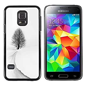 Be Good Phone Accessory // Dura Cáscara cubierta Protectora Caso Carcasa Funda de Protección para Samsung Galaxy S5 Mini, SM-G800, NOT S5 REGULAR! // Winter Storm Snow Black White T