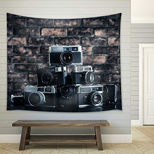 Old camera Fabric Wall Tapestry