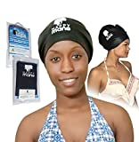 Happy Mane Premium Large and Extra Large XL Swimming Cap Silicone Waterproof Swim Cap for Braids, Long Hair Dreadlocks, Extension or Afro Hair. for Men Women Youth Child Keeps Hair Clean Dry