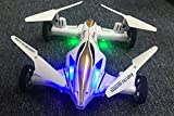 MiluoTech RC Toy Remote Control Helicopter & Flying Car Drone XX8 2.4G 6CH 4-Axis Gyro Mini Quadcopter With LED