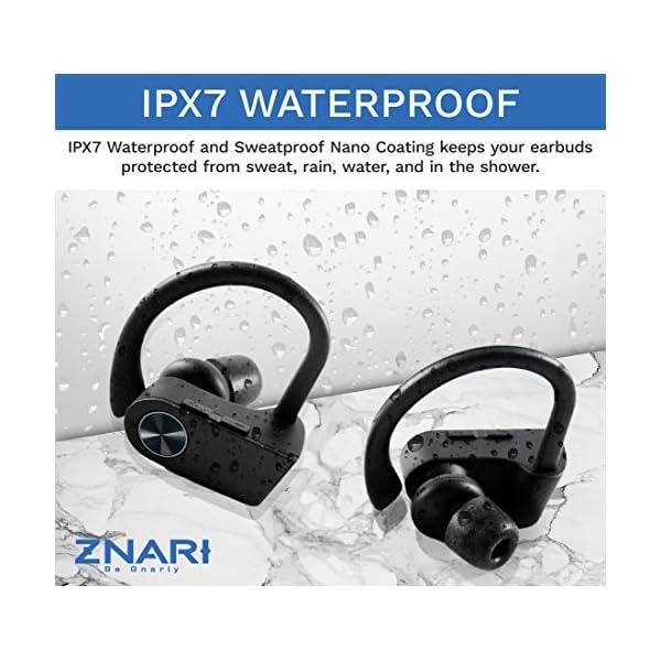 True Wireless EARBUDS Totally Truly Bluetooth 5 Power Pro Sports Beats Noise Cancel Isolation Waterproof IPX7 Black Grey 4