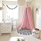 Bed Canopy for Children, Cotton Mosqutio Net Hanging Curtain, Baby Indoor Outdoor Play Reading Tent, Bed & Bedroom Decoration, Insect Net Protection (Pink)