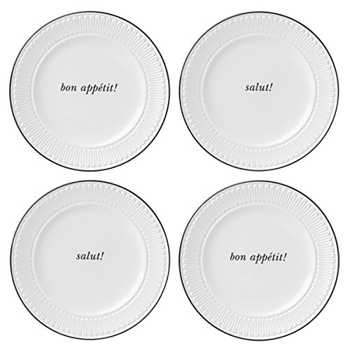 kate spade new york York Avenue Dinnerware Tidbit Appetizer Accent Plates, Set of 4